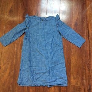 CREWCUTS J. Crew Girls Denim Jean Dress 7 Blue